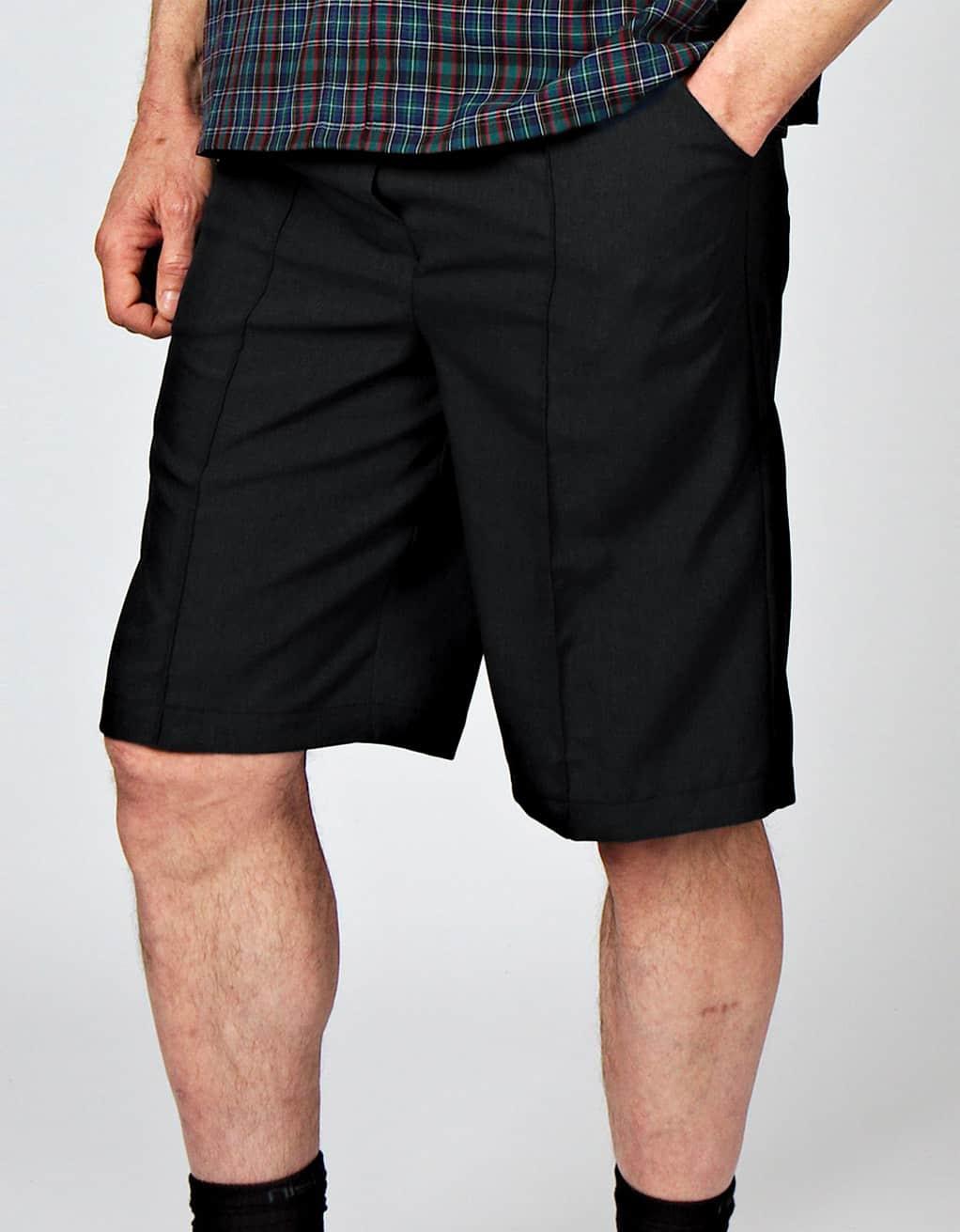 77088461f0d14 Elastic waist adaptive Bermuda shorts, with pockets and decorative ...