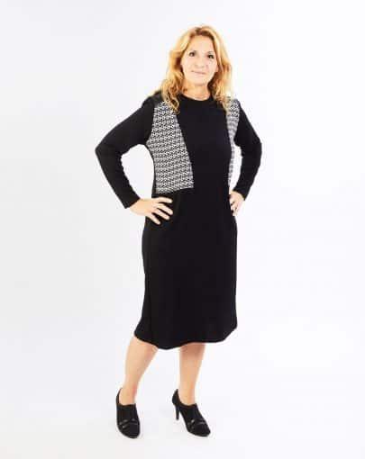 robe-adaptee-chic-avec-motifs-geometriques-bandes-de-cuirette-aux-epaules-FR72115-858