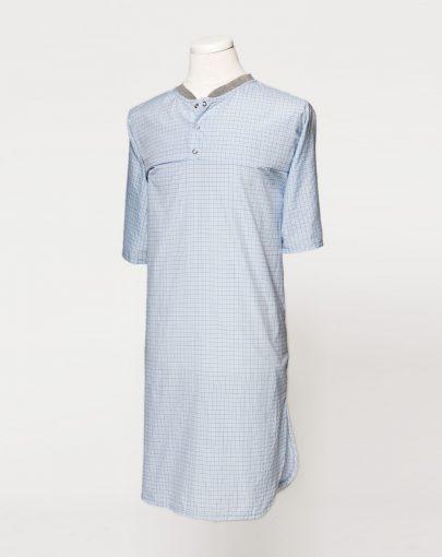 chemise-de-nuit-adaptee-a-carreaux-polycoton-HN13017-C-01
