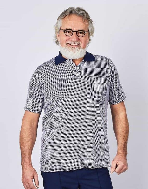 Polo adapté pour homme ouverture au dos