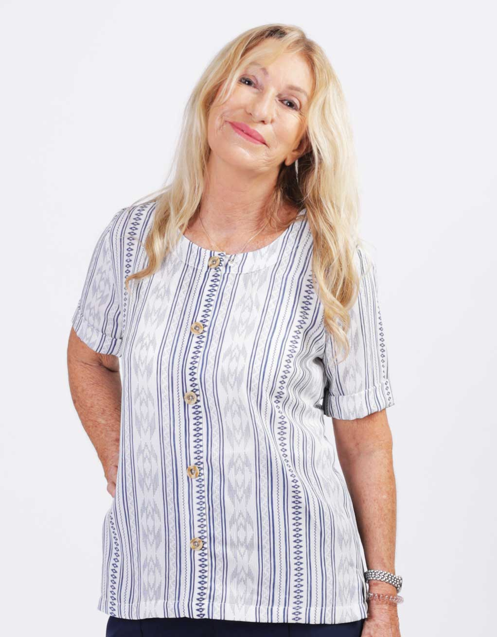 b18165b0424 blouse-adaptee-Léna-ete-2019-FB92739-101-bleu-et-blanc - Mode Ézé Plus