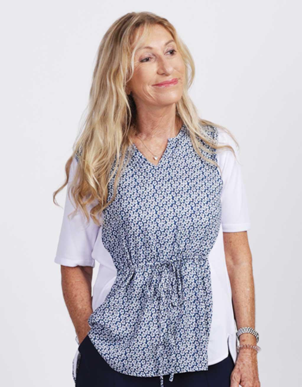 1068a1fac04 blouse-adaptee-tunique-ete-2019-FB92742-112-bleu-et-blanc - Mode Ézé ...